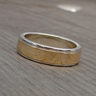 silver gold band