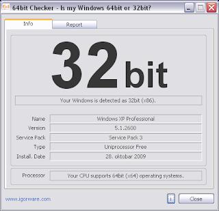Phần mềm kiểm tra phiên bản Windows 32bit hay 64bit