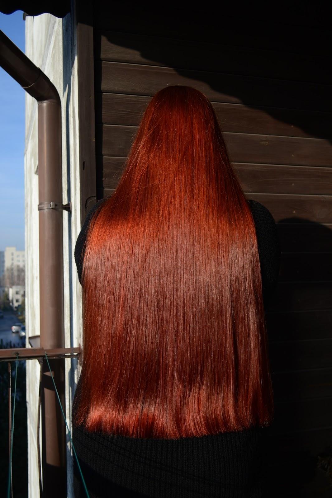 Aktualizacja włosowa Listopad - czerwień po ponad 6 tygodniach, nowe marki kosmetyków