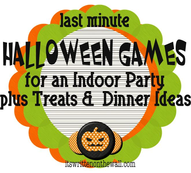 It\u0027s Written on the Wall Indoor Halloween Games, Dinner Menus