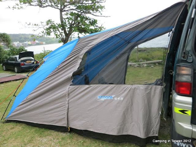 Bug Out Vehicle Delica L300 Scooda Side Awning Tent