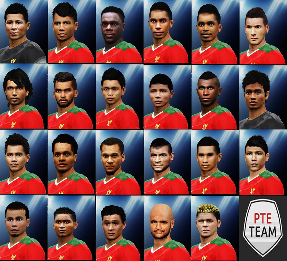 Ultigamerz Pes 2010 Pes 2011 Face: PES-MODIF: PES 2016 REAL FACE TIMNAS INDONESIA PTE 5.1 By