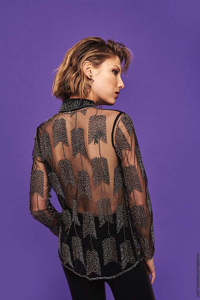 Blusas con transparencias otoño invierno 2018 ropa de mujer.