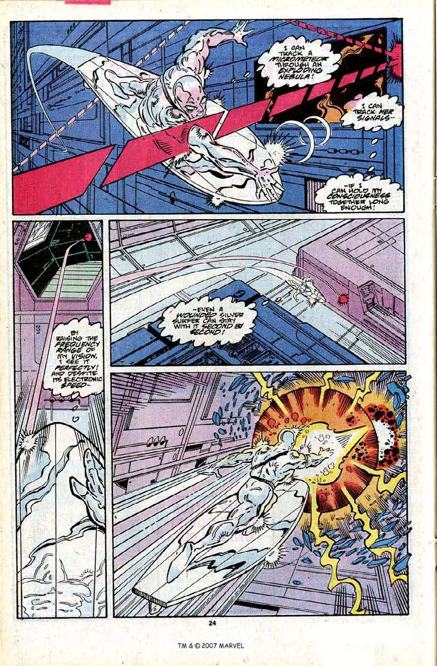 Read online Silver Surfer (1987) comic -  Issue #24 - 26