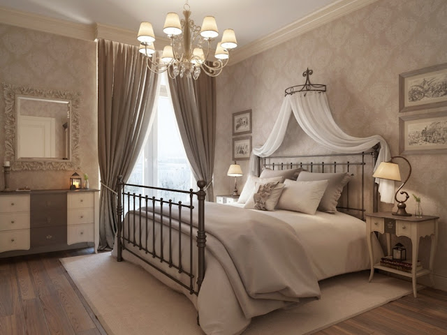 attractive vintage bedroom ideas with fancy white drawer also cube mirror and beautiful chandelier