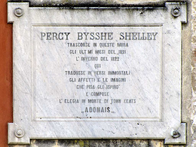 Percy Bysshe Shelley, plaque, Pisa