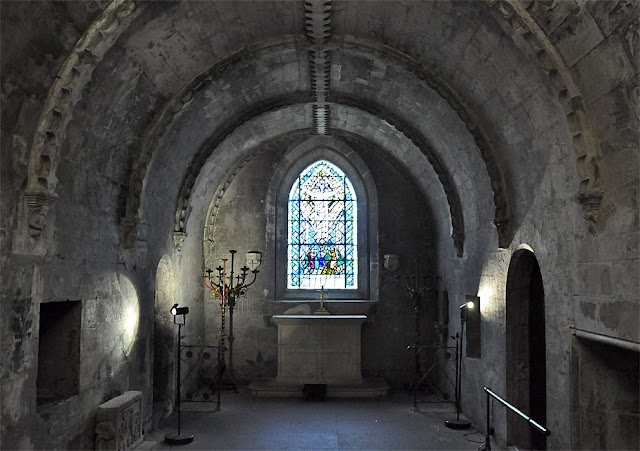 A picture from inside the Rosslyn Chapel Crypt