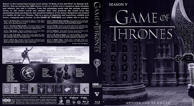 Capa Bluray Game Of Thrones Quinta Temporada Completa