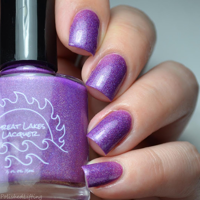 dark to light purple thermal nail polish