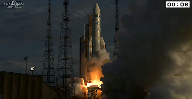 Ariane 5 liftoff on flight VA231. Photo Credit: ESA