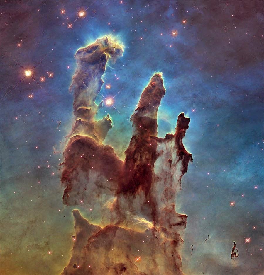 novas imagens dos pilares da criação