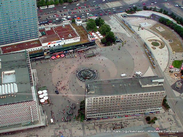 Alexanderplatz vista da Torre de TV de Berlim