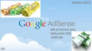 Web Sitesine En Fazla Kaç Tane Google Adsense Reklamı Konabilir ? - Kurgu Gücü