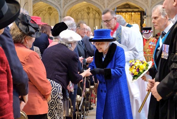 Queen Elizabeth II attended 2018 Royal Maundy service held at St George Chapel