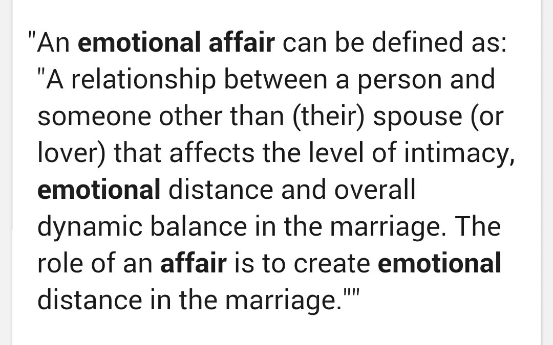 Emotional affairs and texting