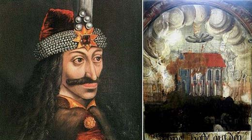 OVNI en pintura del siglo 15 encontrado en el lugar donde nació 'Drácula'