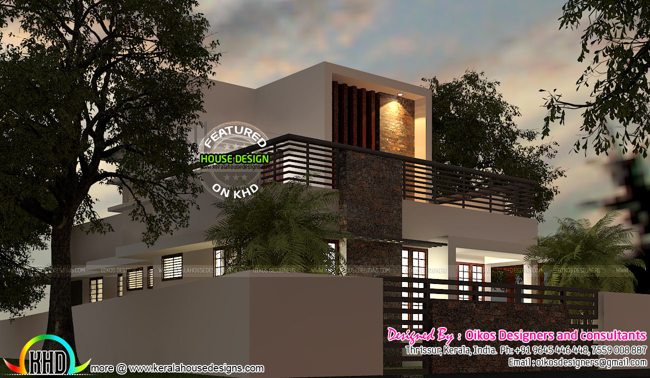Ground Floor Front Elevation Designs In : Budget house with simple and elegant contemporary design