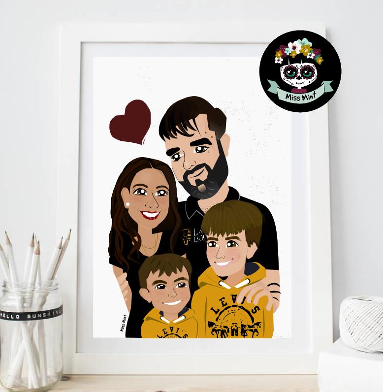 regalos personalizados retrato ilustrado