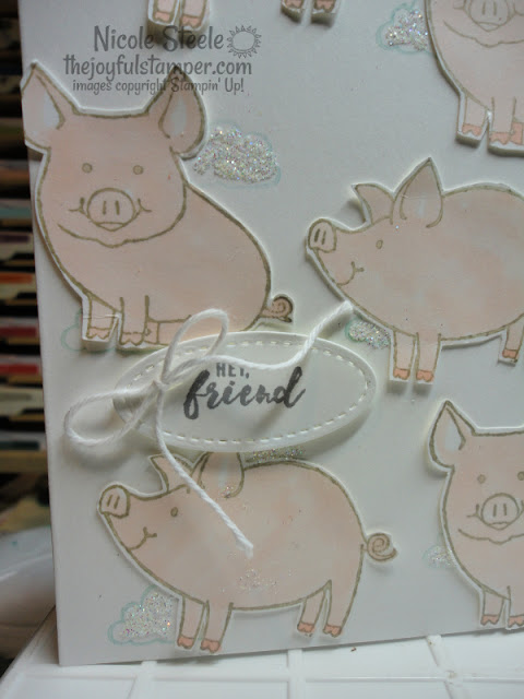 this little piggy | itty bitty greetings | stampin up | animal stamps | nicole steele The Joyful Stamper