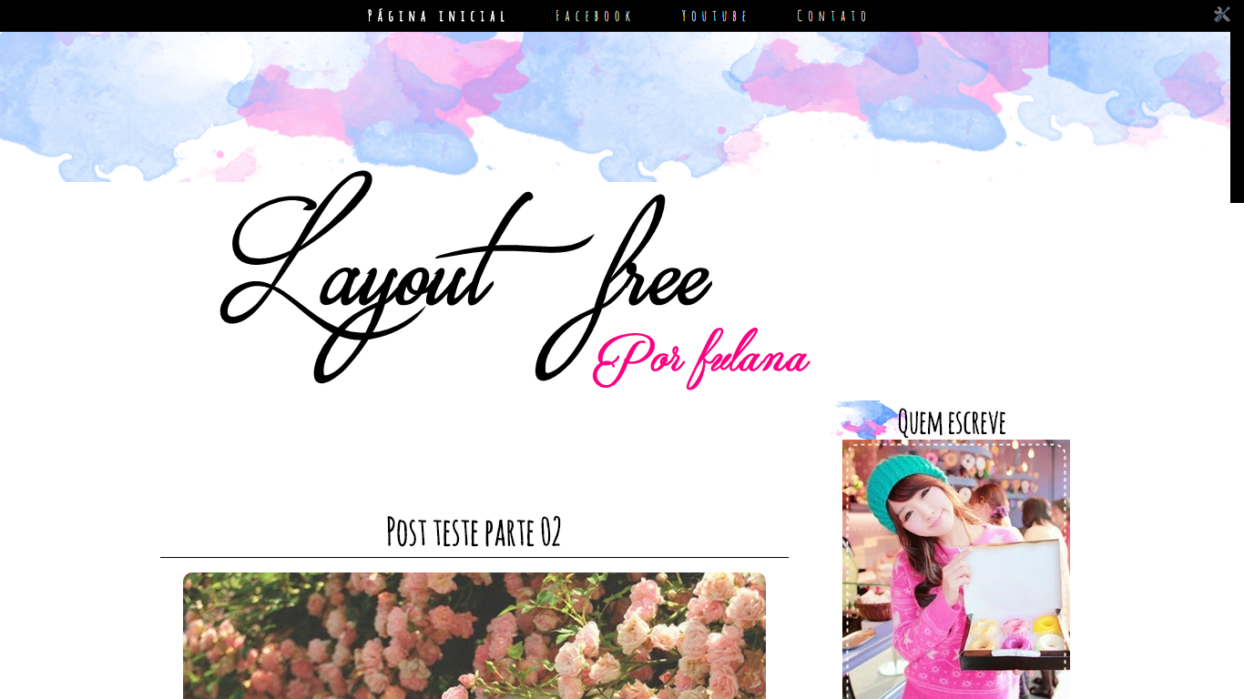 layout free exclusivo para download aquarela blue