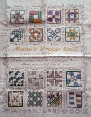Mother's Prayer Quilt Cross Stitch