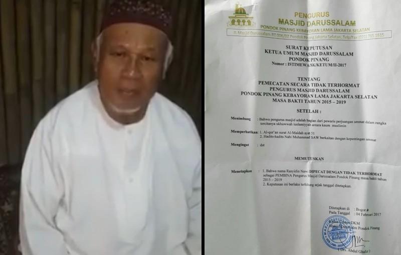 Rasyidin Nawi dipecat dari pembina masjid