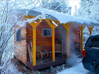 Klondike Kate cabin at Wilderness Cabins, Whitehorse, YK