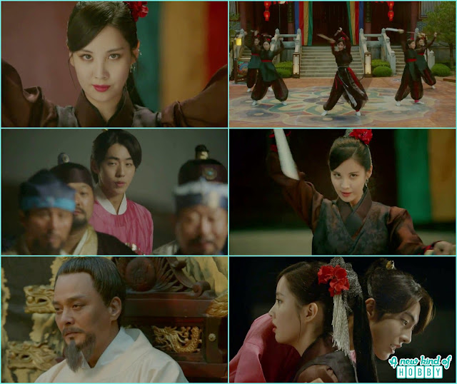 at the sward dance woo hee try to kill the king but Baek Ah come infront of her stabbing himself - Moon Lover Scarlet Heart Ryeo - Episode 12 - Review