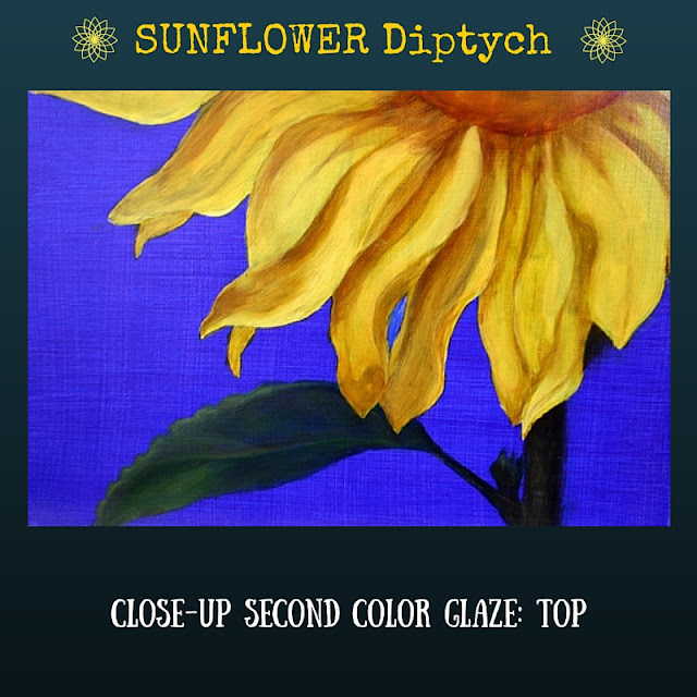 CLOSEUP Second color glaze TOP Sunflower
