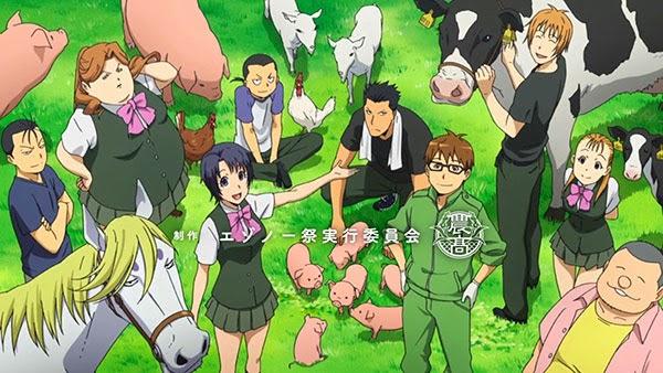 Gin no saji - anime pemandangan desa spesiall Earth Day bagus dan terbaik
