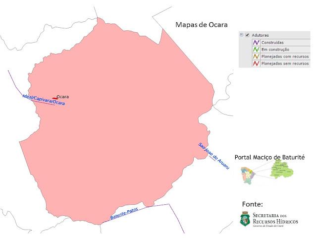 Mapas de Ocara - adutoras