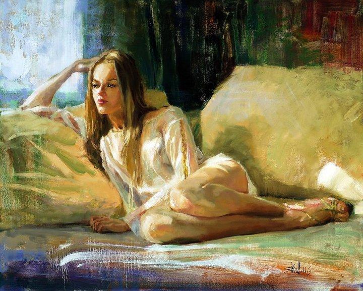 Eric Wallis ~ Pinturas sensuais e elegantes