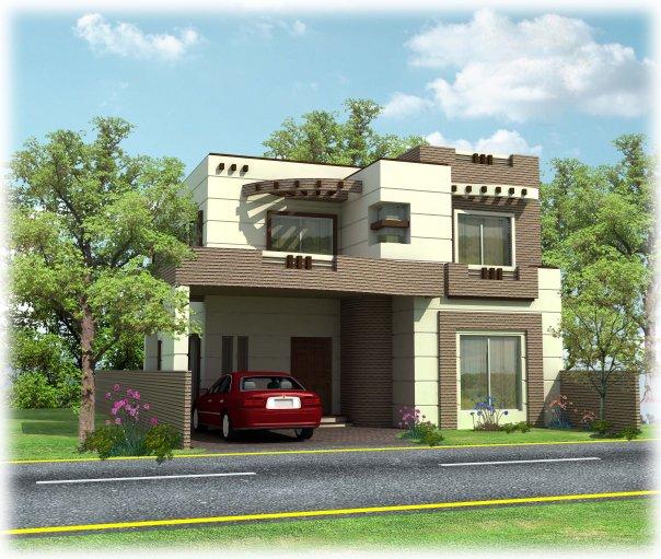 3D Front Elevation.com: Wapda Town 10 Marla 3D Front