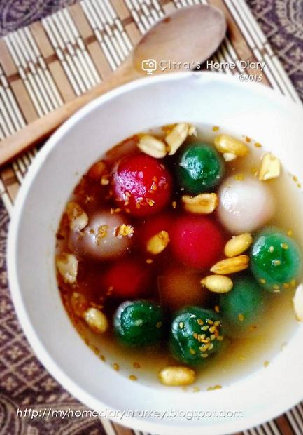Wedang Ronde (Indonesian Glutinous balls in ginger syrup)   Çitra's Home Diary. #wedangronde #Indonesianbeverages  #glutinousriceflour #Asianfoodrecipe #hotbeverages #healthydrink