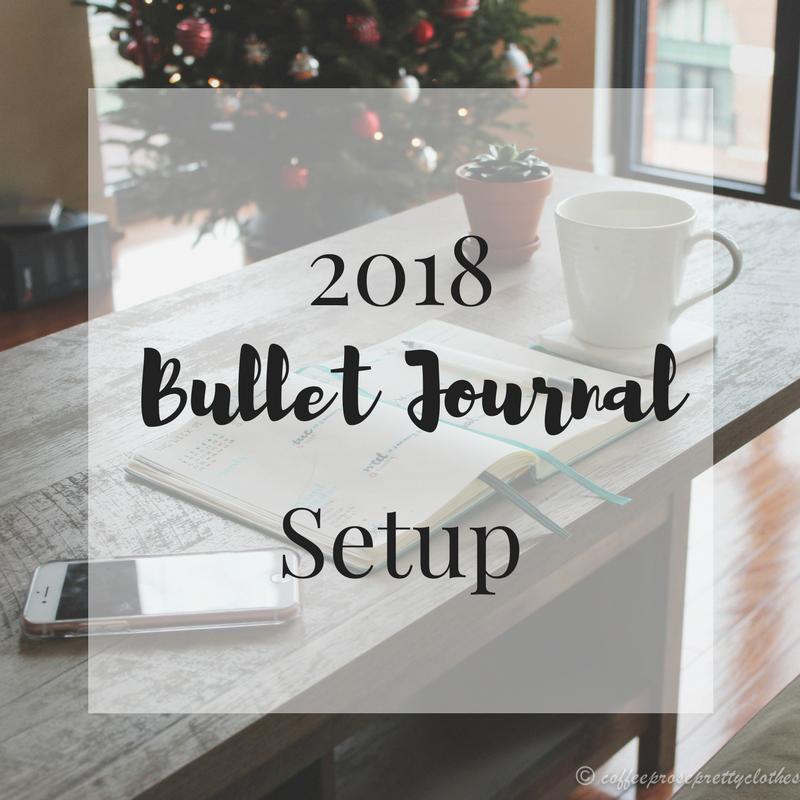 2018 Bullet Journal Setup