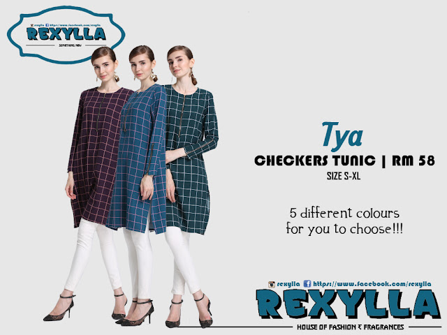 rexylla, checkers, checkers tunic, checkers blouse, tya collection