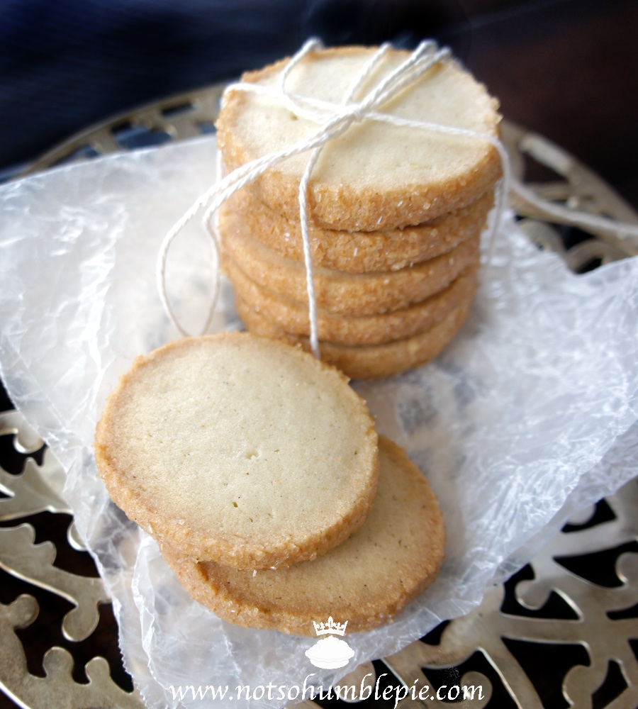 Not So Humble Pie Cardamom Shortbread Cookies