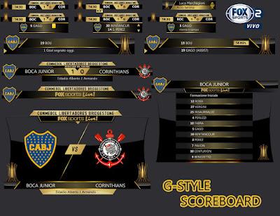 PES 2017 Libertadores Scoreboard by G-Style