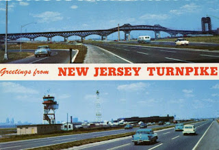 New Jersey Turnpike vintage postcard