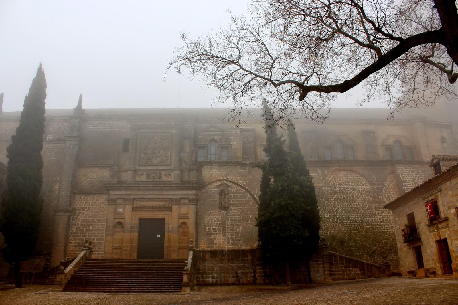Fachada norte de la Catedral de la Natividad en Baeza