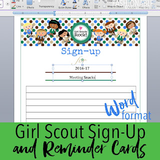 my fashionable designs girl scouts free printable sign up sheet