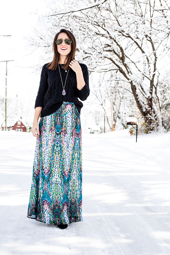 Here&Now: Shabby Apple mosaic maxi skirt