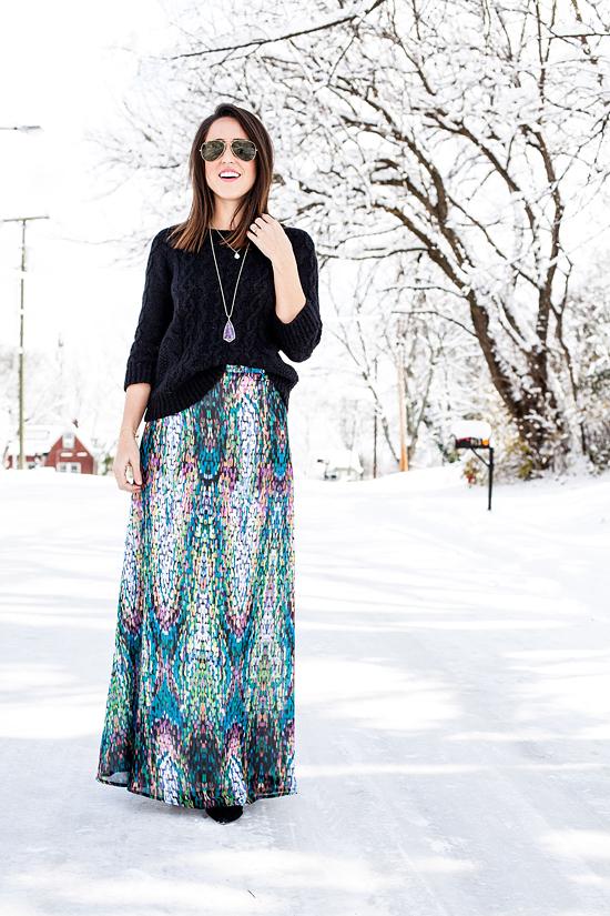 Here&Now: Shabby Apple mosaic maxi skirt