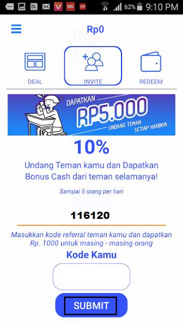 cara mendapatkan bonus pulsa gratis dari AyoSlide