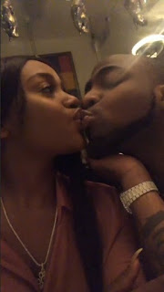 Davido and Chioma kiss