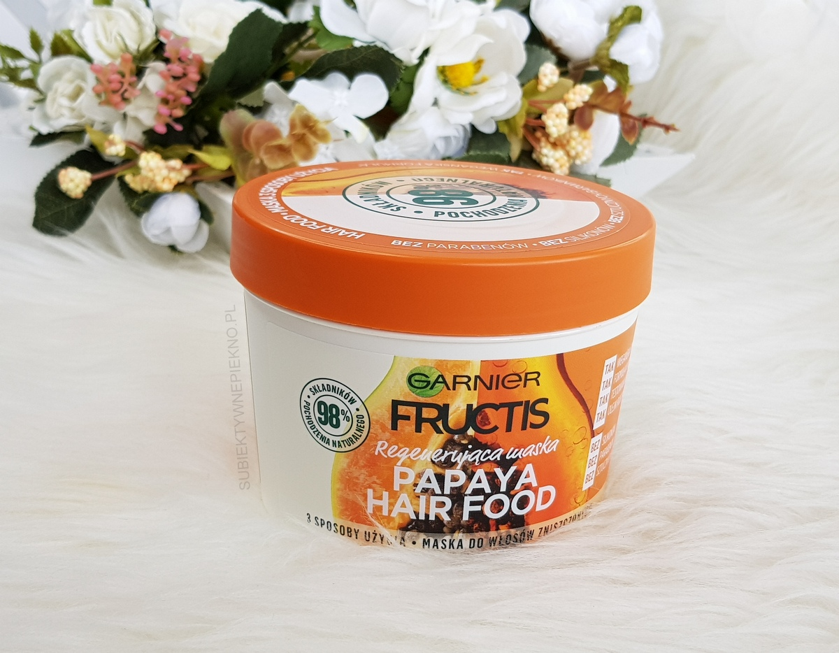 Hit: regenerująca maska do włosów GARNIER FRUCTIS PAPAYA HAIR FOOD