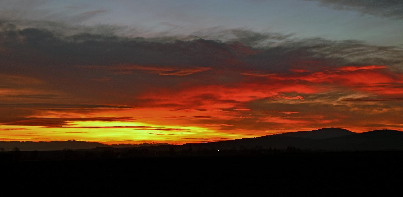 Ślęża - Zachód słońca