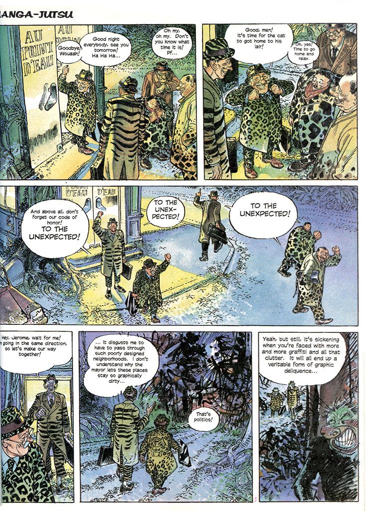 Manga-Jutsu by François Boucq, published in Heavy Metal Magazine, September 1997.