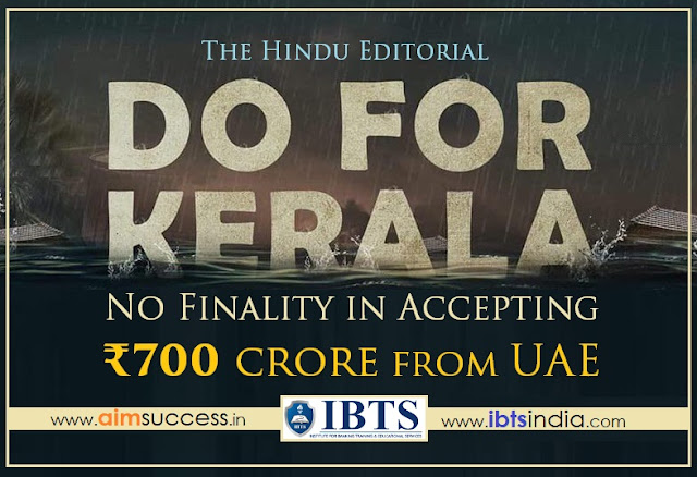 No Finality in accepting ₹700 crore from UAE: The Hindu Editorial