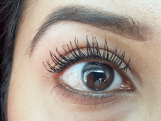 Two coats of the Rimmel ScandelEyes Reloaded Mascara